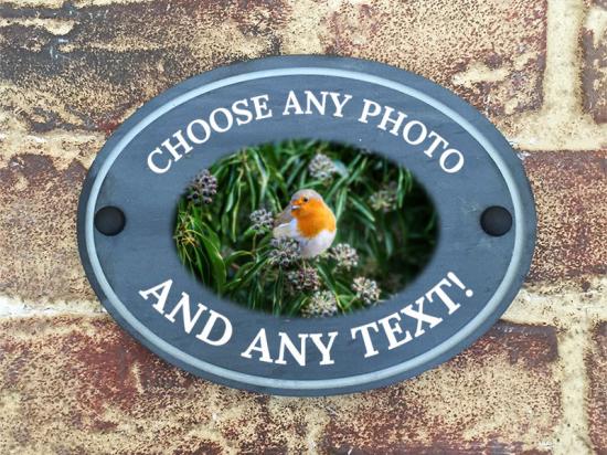 Photo on Slate House Sign