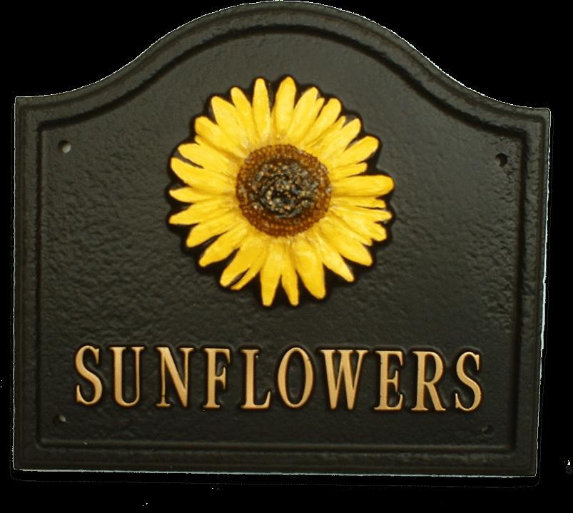Sunflower house sign