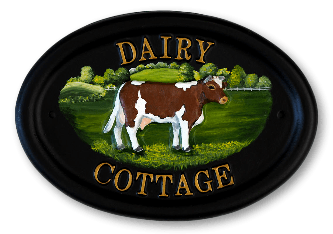 Cow house sign