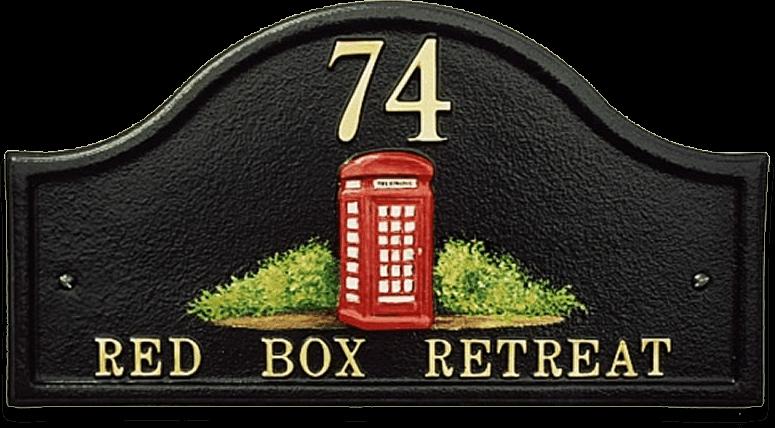 Telephone Box house sign