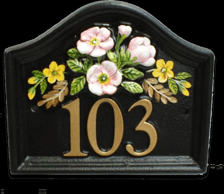 Flower Arrangement house sign