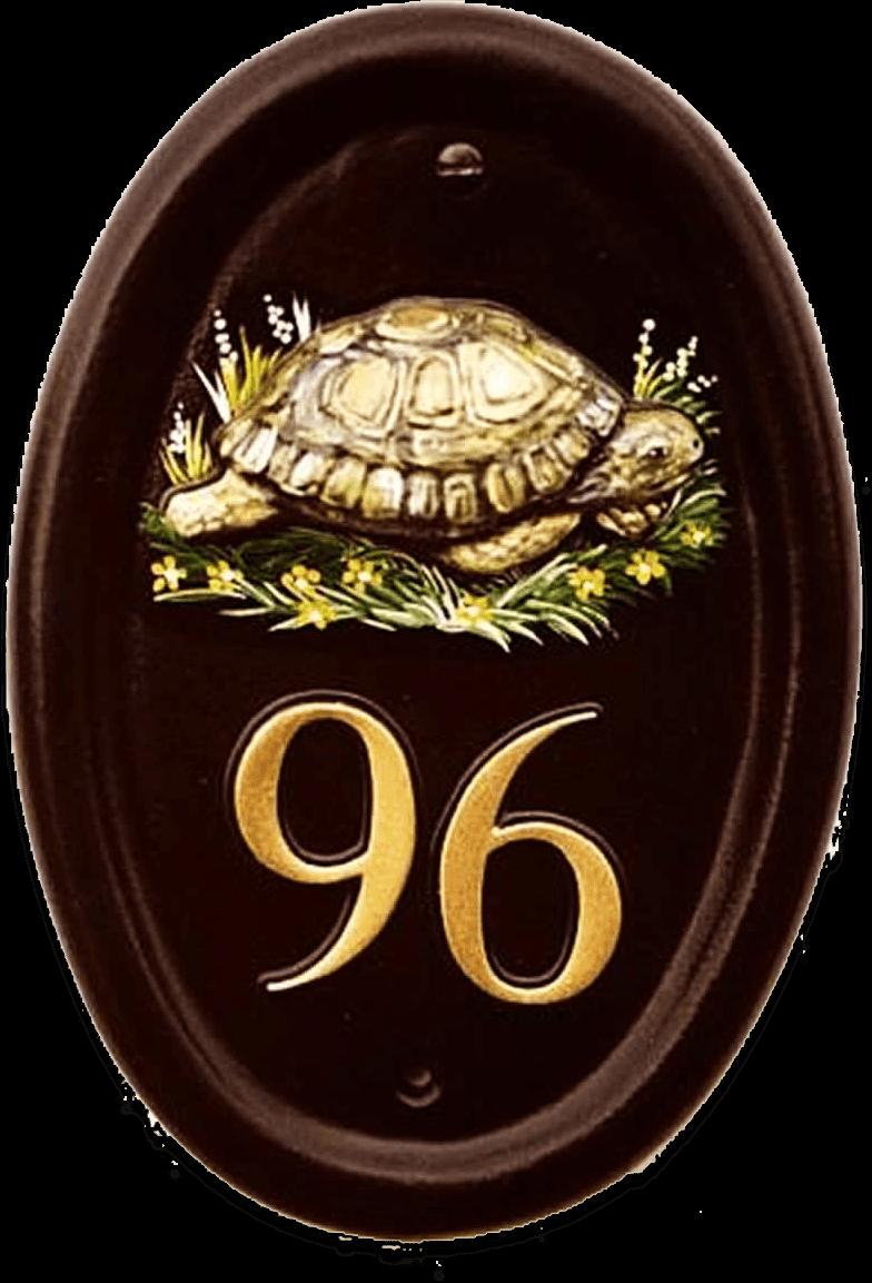Tortoise house sign