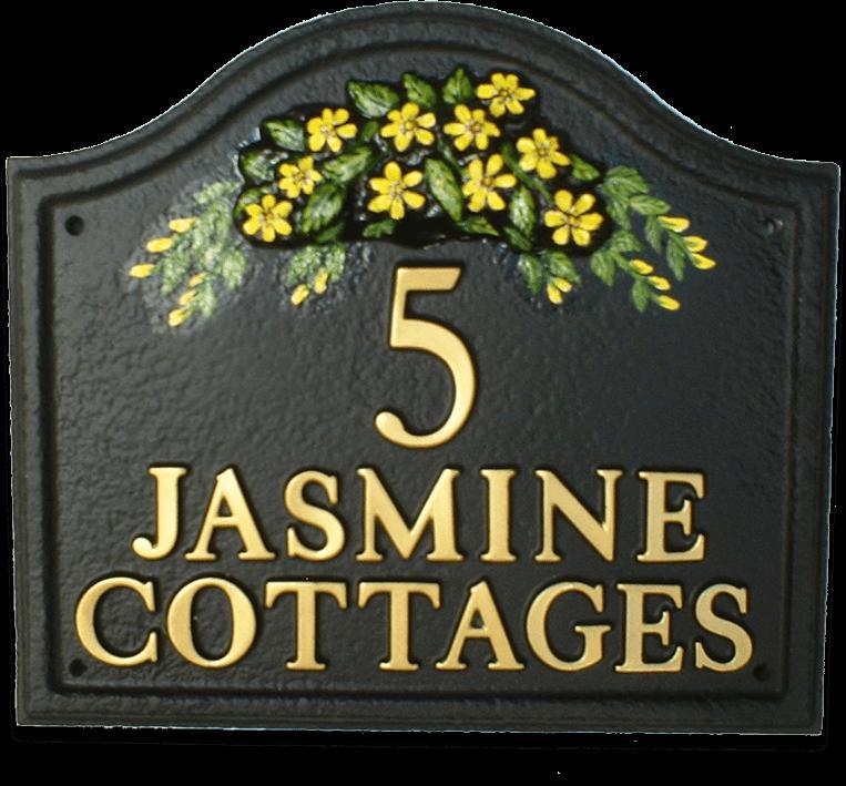 Jasmine house sign