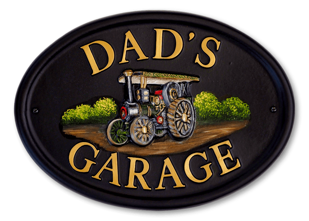 Traction Engine house sign