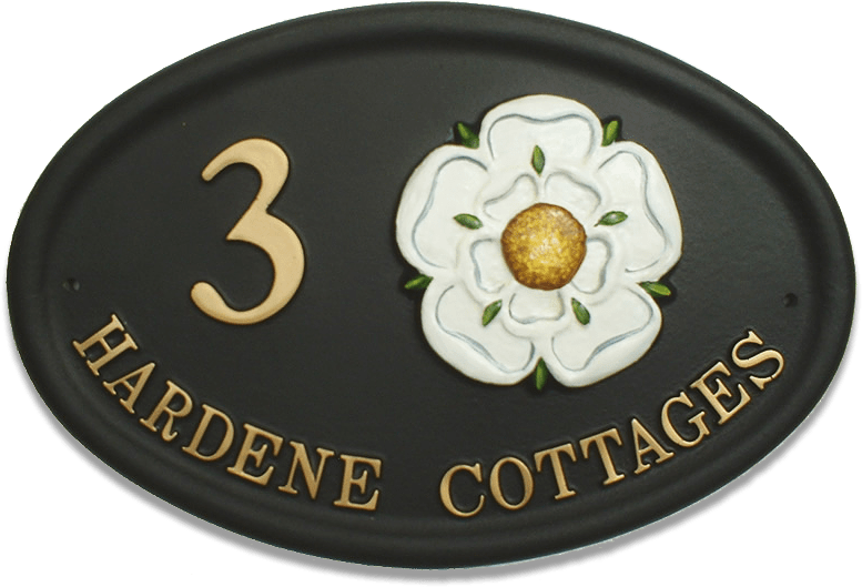 Yorkshire Rose Large house sign