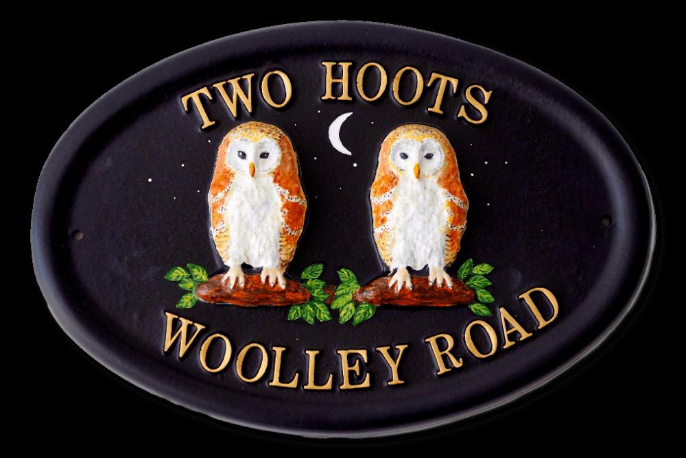 Owls Barn house sign