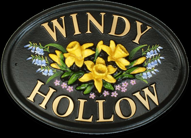 Daffodils house sign
