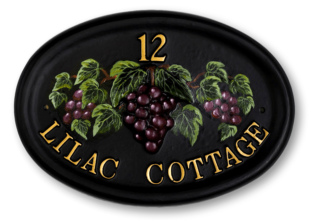 Grapes Extended house sign