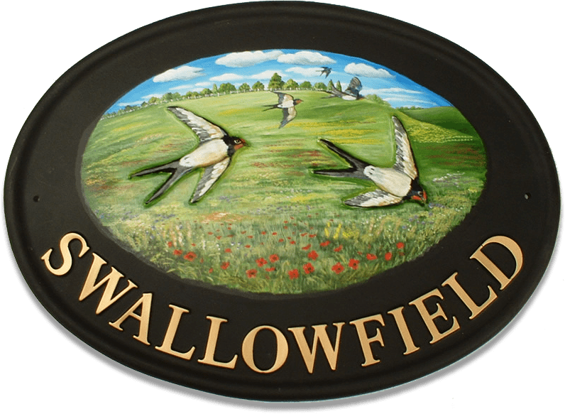 Swallows house sign