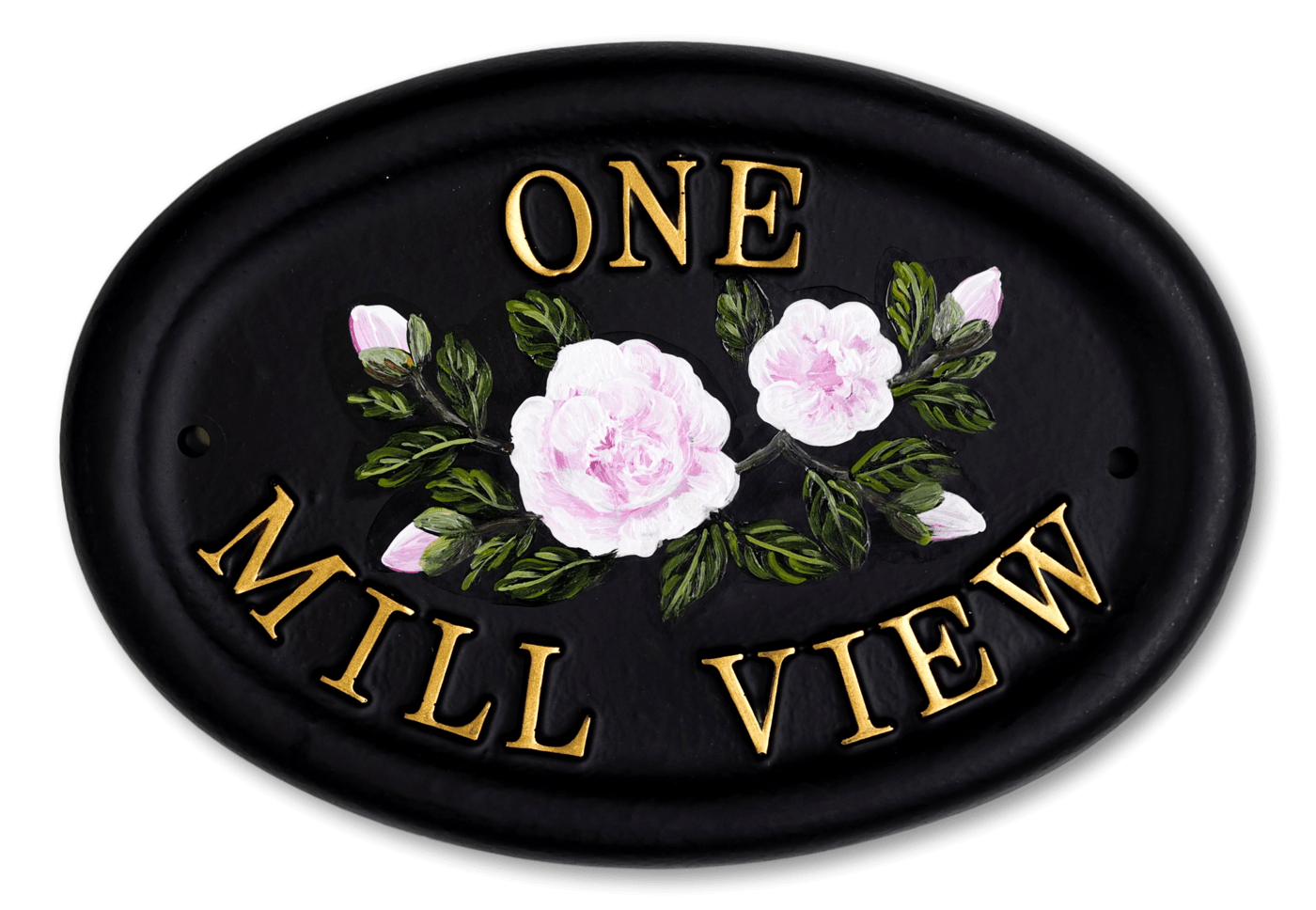 Camellia Flat Painted house sign