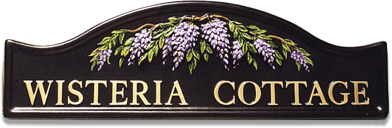 Wisteria house sign