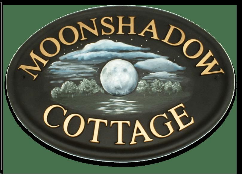 Moon house sign