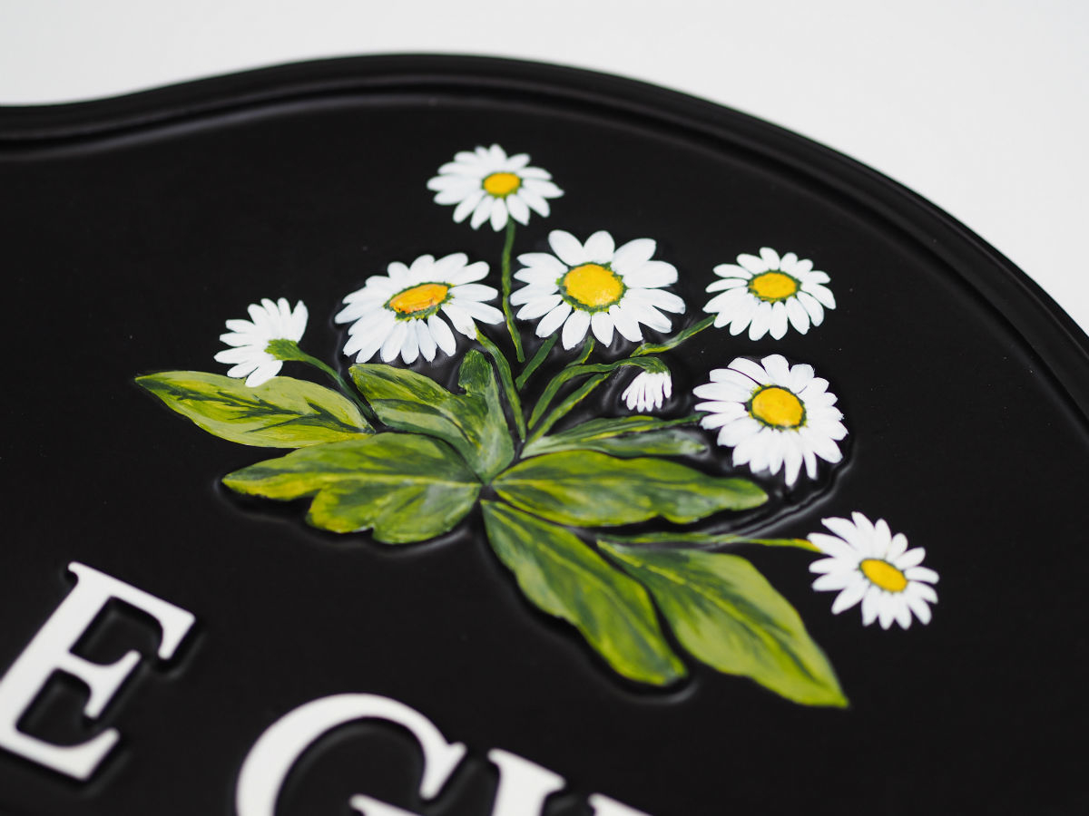 Daisies Close Up house sign