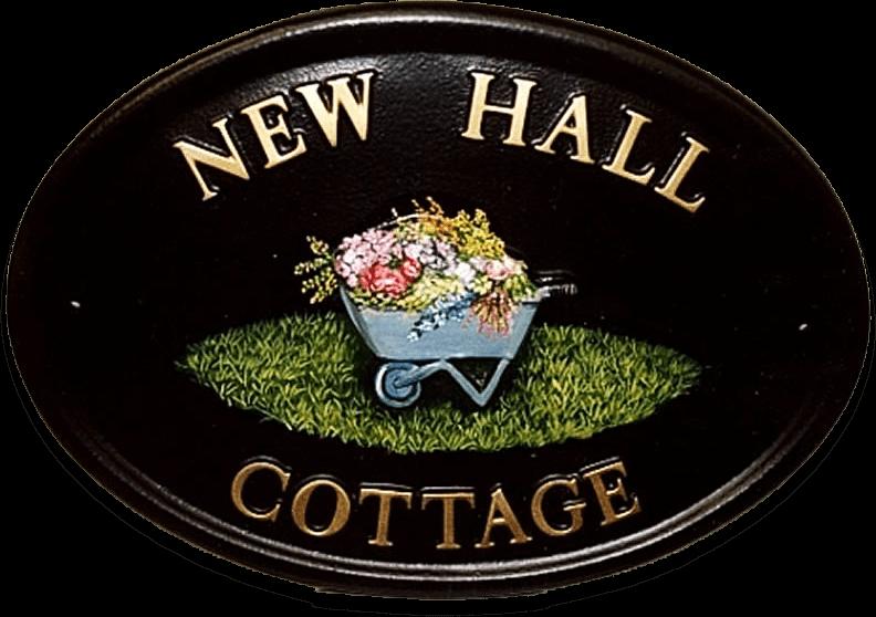 Wheelbarrow house sign