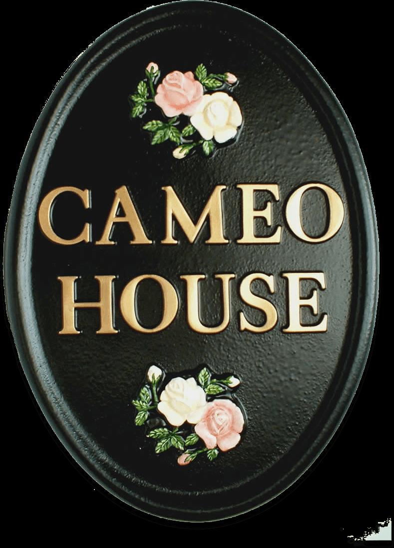 Split Roses house sign