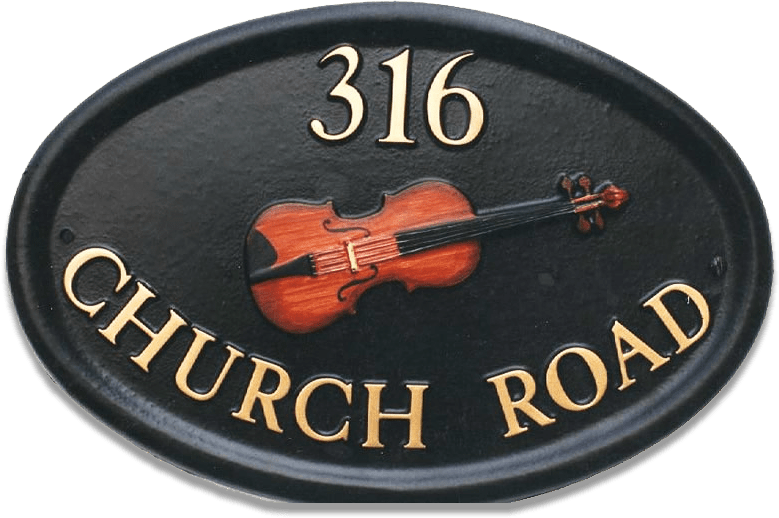Music Violin house sign