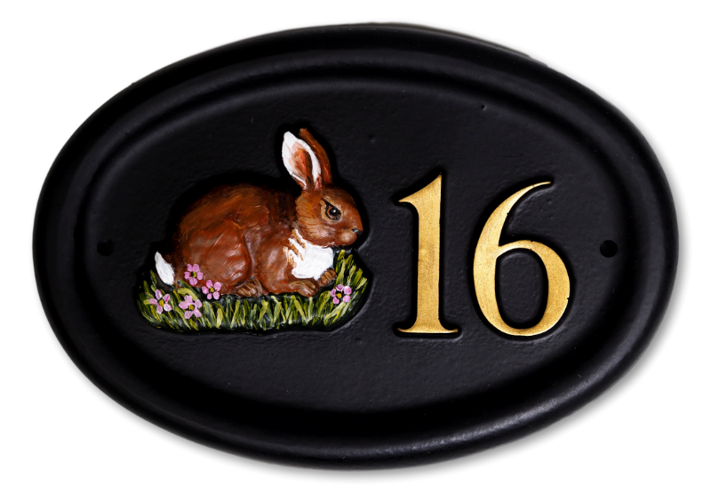 Rabbit Small house sign