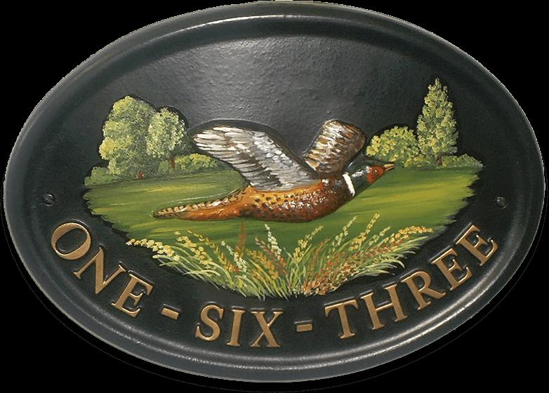 Pheasant house sign