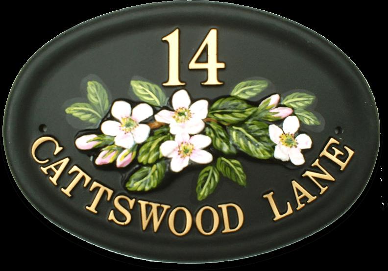 Blossom house sign