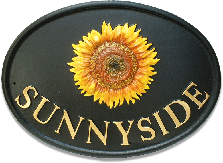 Sunflower Large house sign