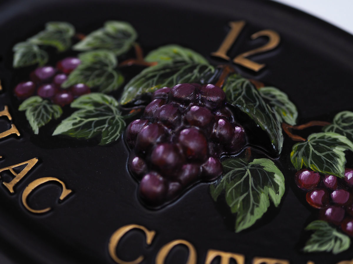 Grapes Extended Close Up house sign