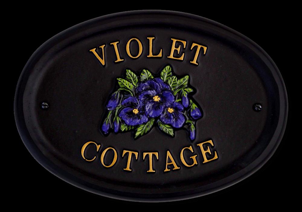 Violets Split house sign