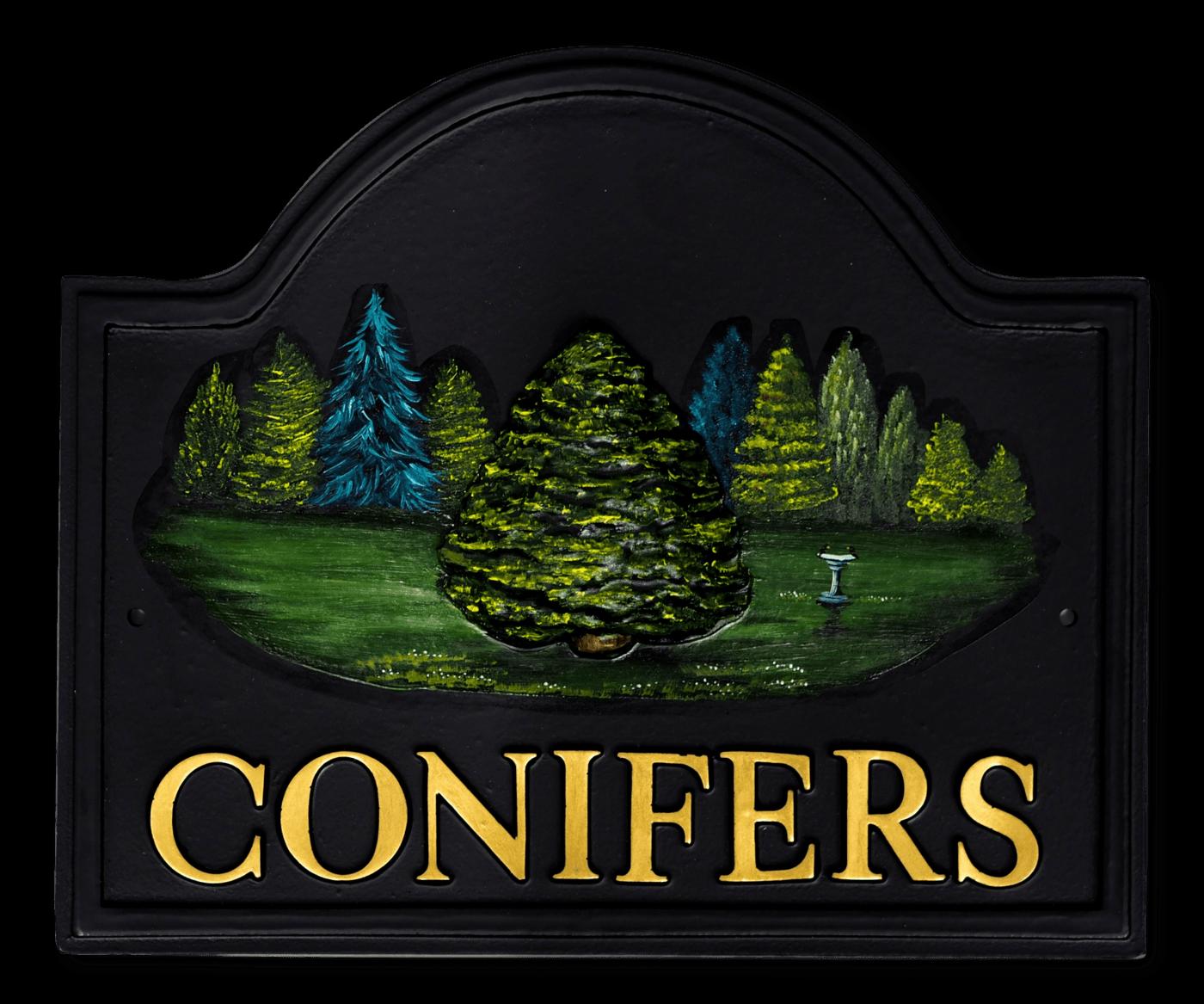 Conifer house sign