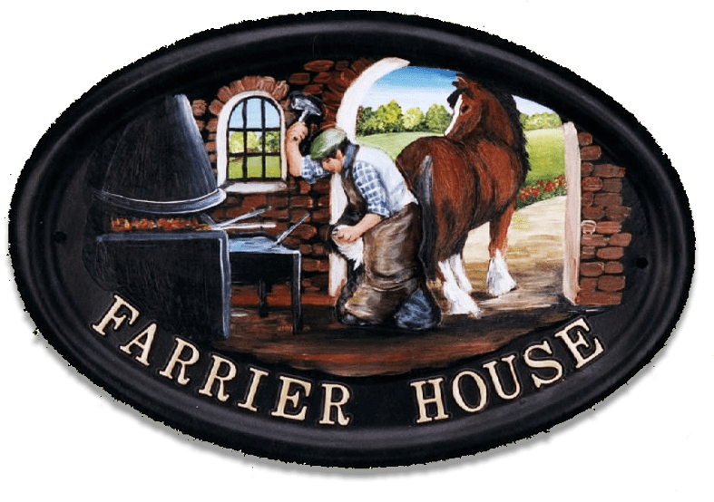 Farrier With Horse house sign