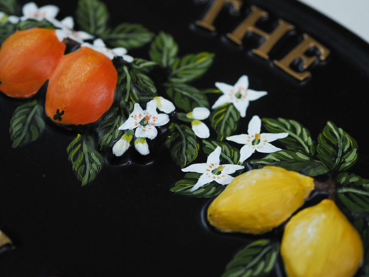Oranges & Lemons Close Up house sign