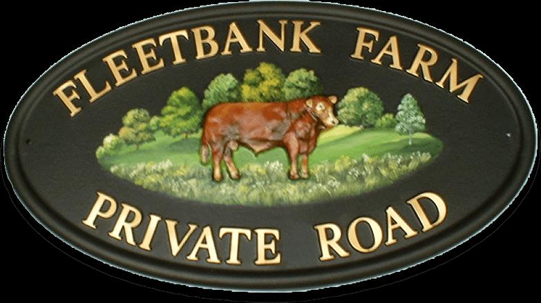 Bull Limousine house sign