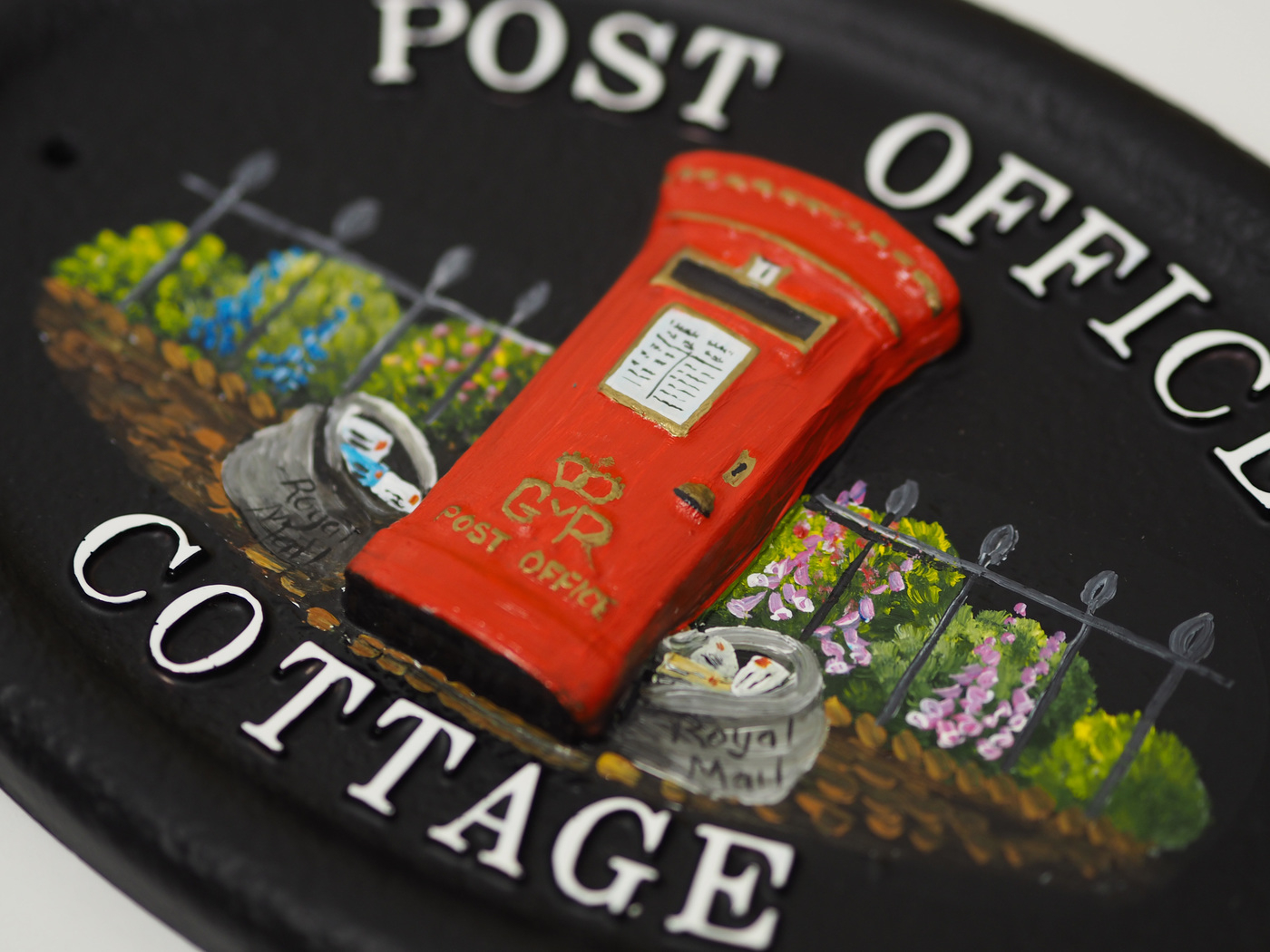 Post Box close-up. house sign