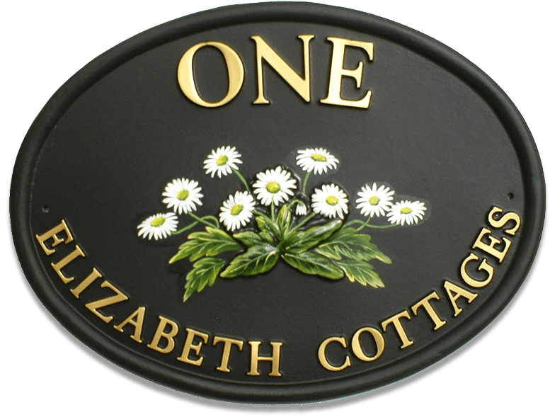 Daisies house sign
