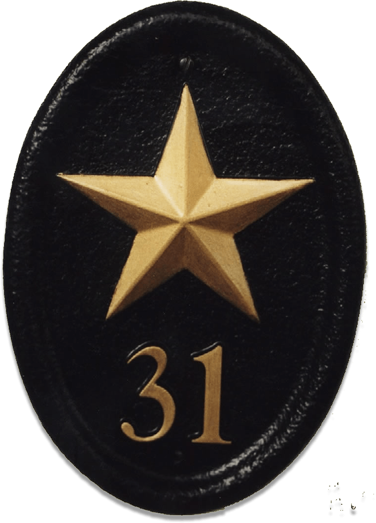 Gold Star house sign
