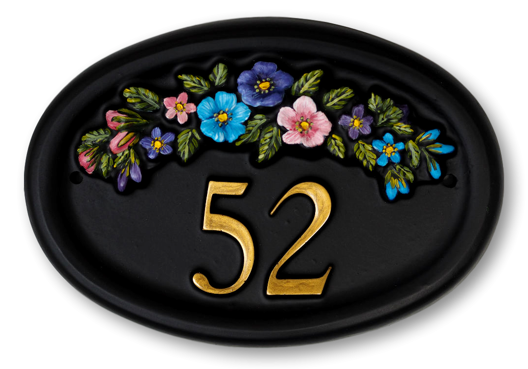 Row Of Flowers house sign
