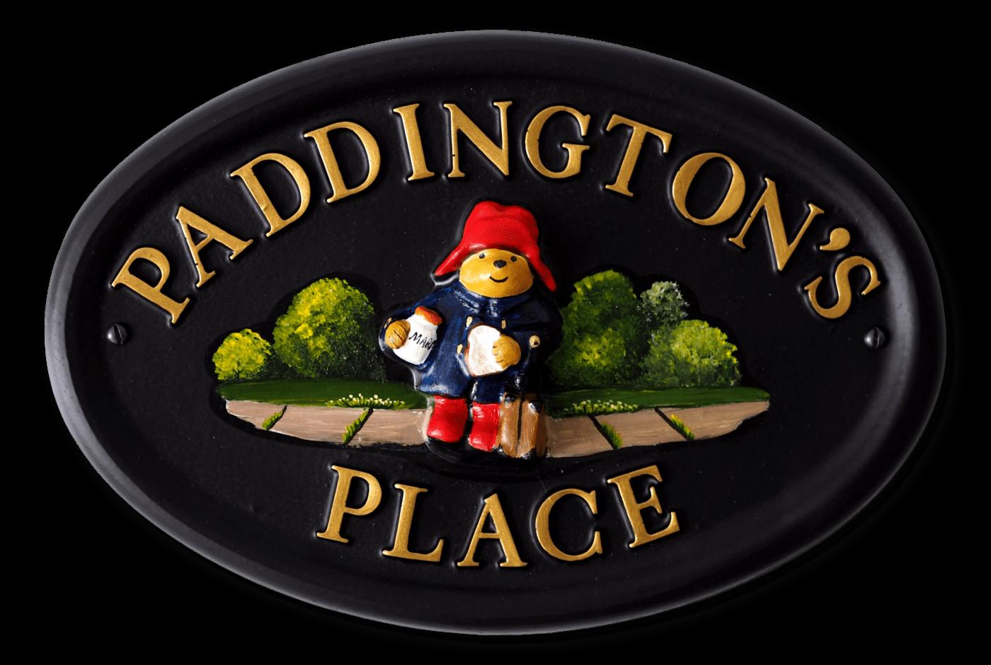 Paddington Bear house sign