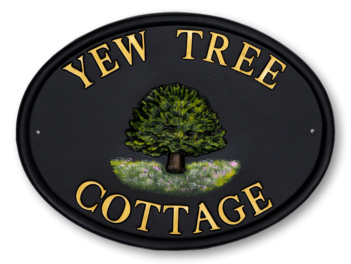 Yew house sign