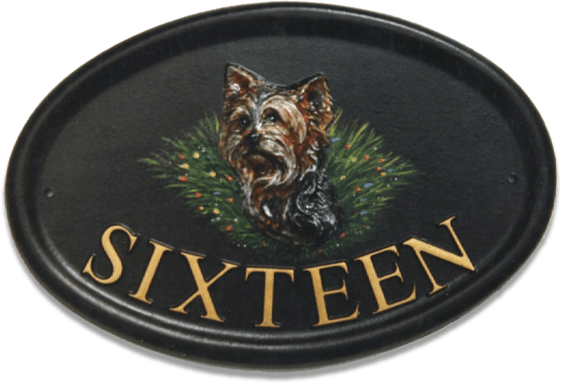 Yorkshire Terrier Head house sign