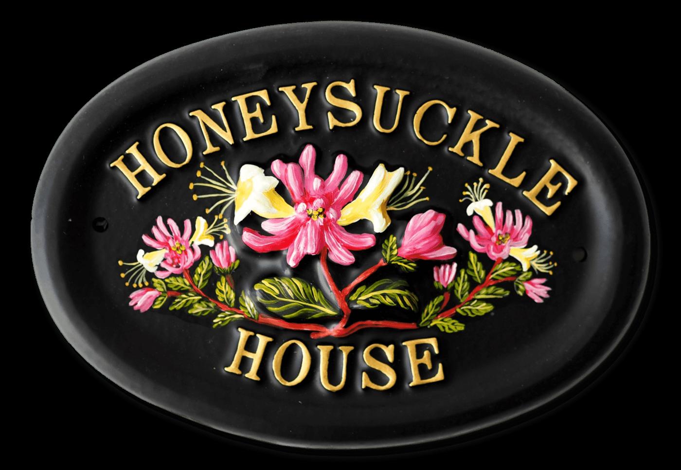Honeysuckle house sign