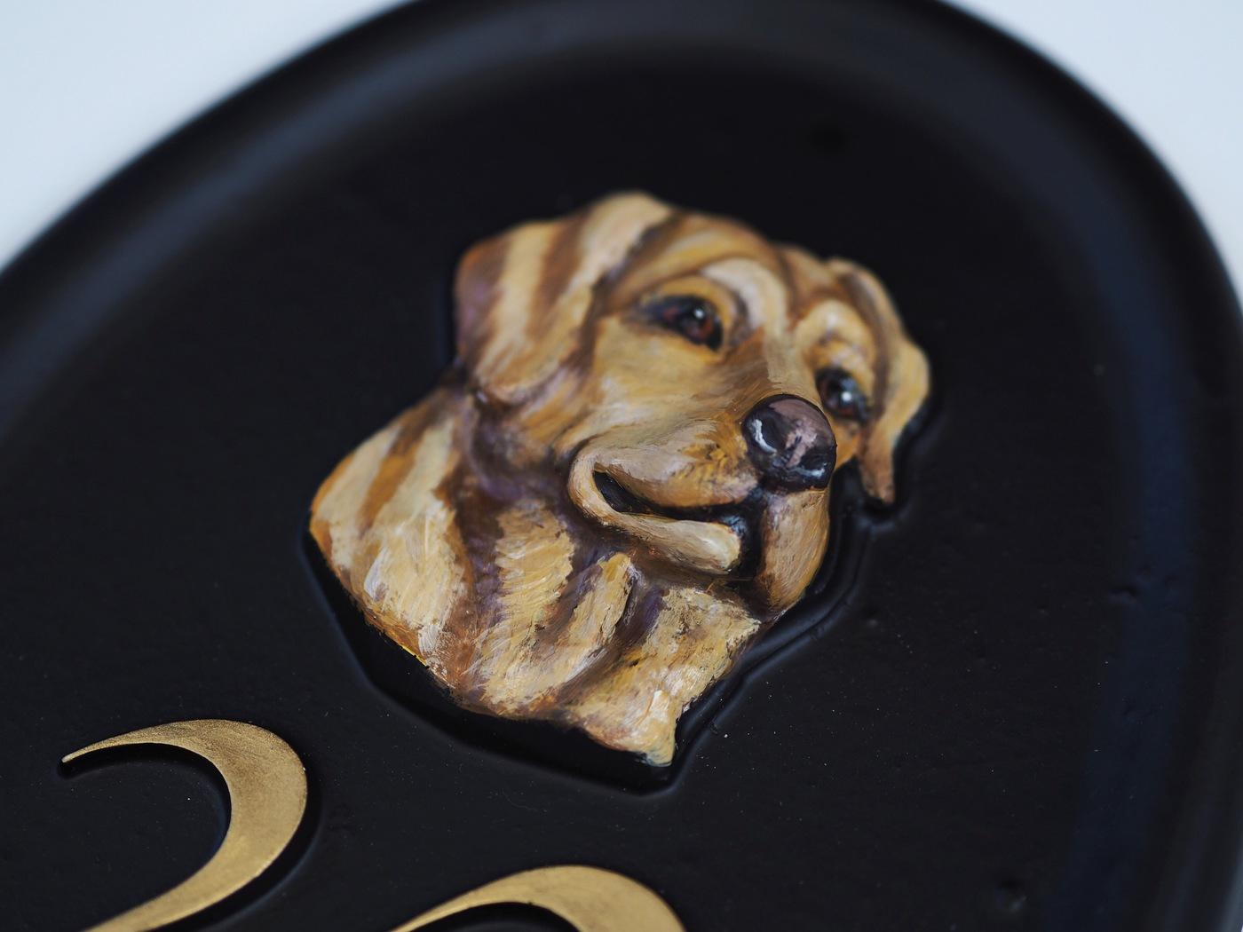 Labrador Head Close Up house sign
