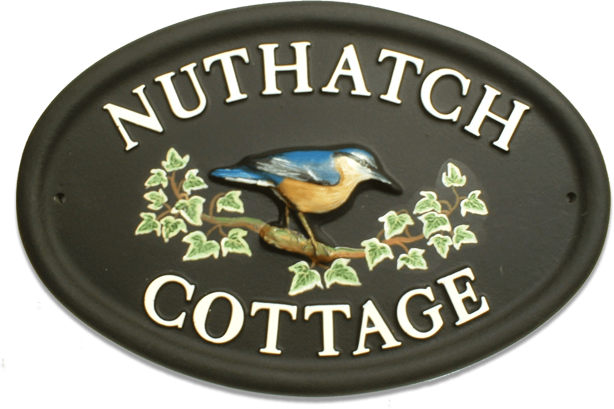 Nuthatch house sign