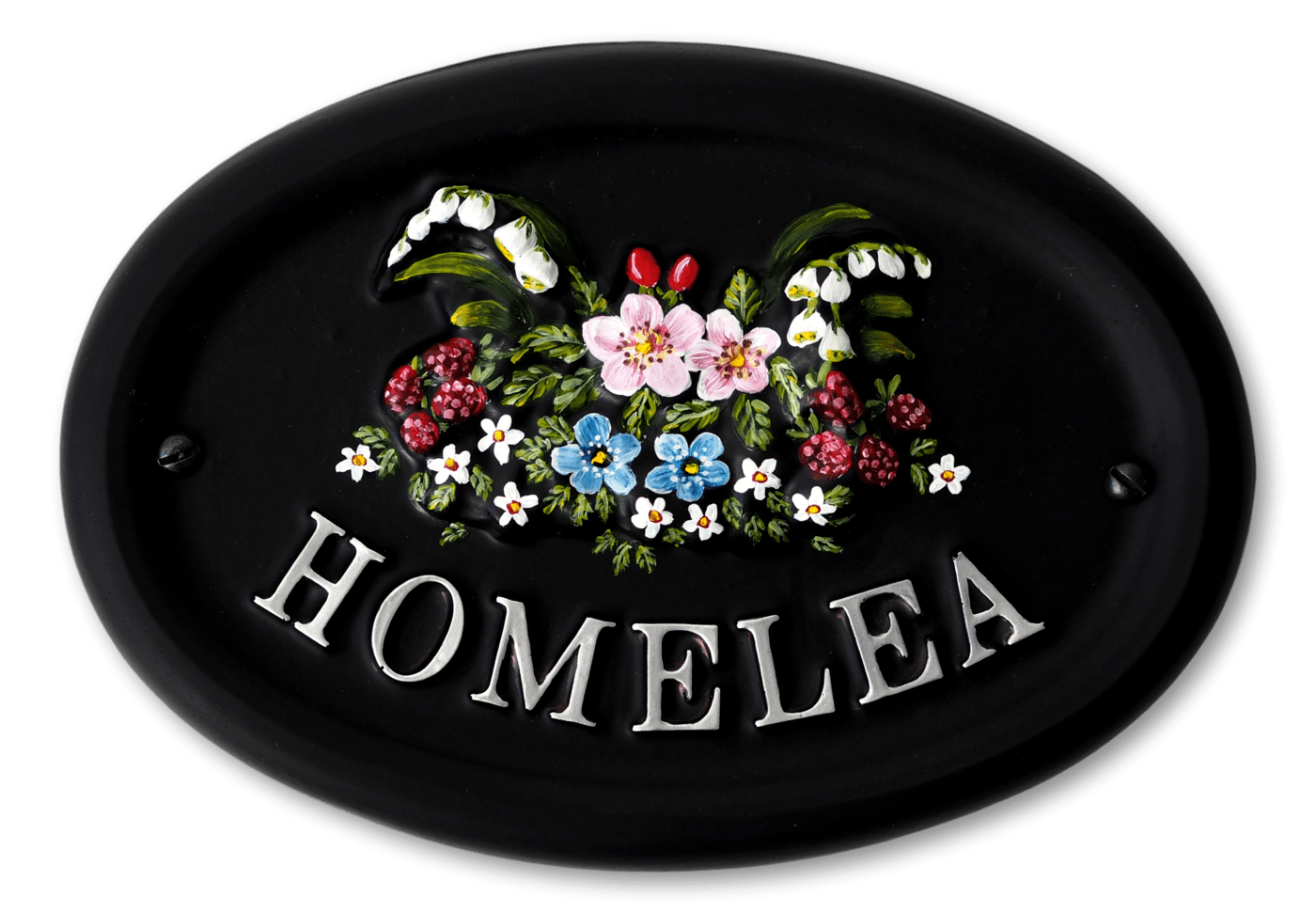 Woodland Flowers house sign