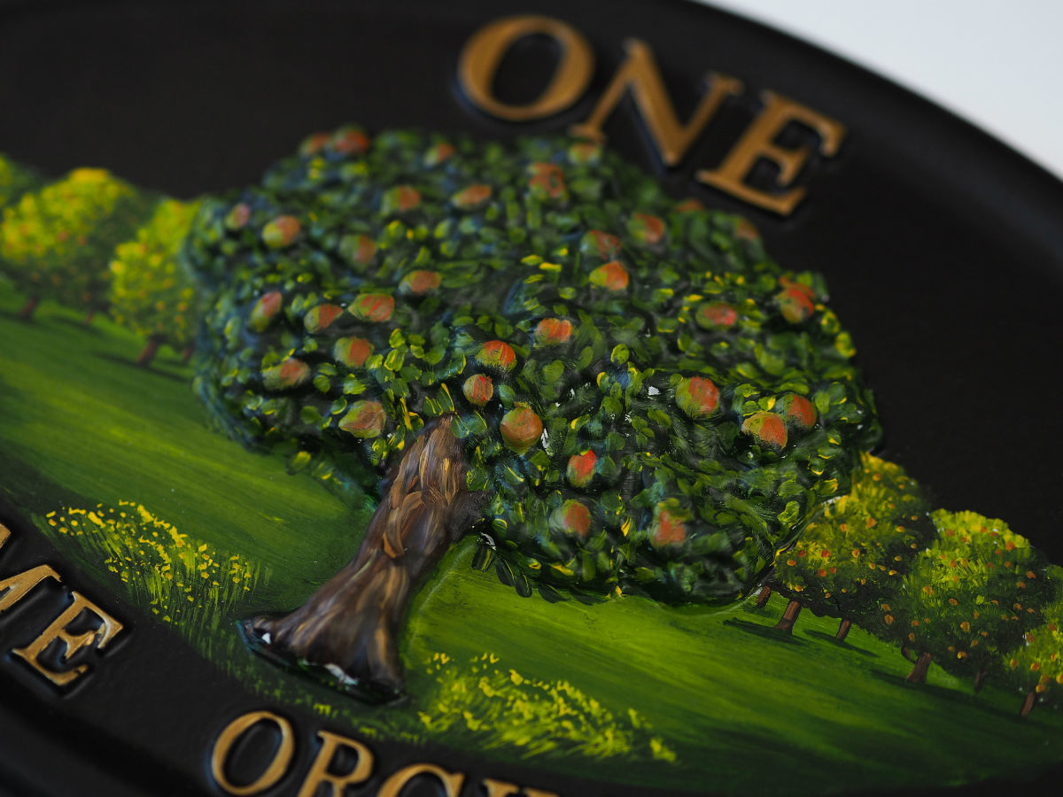 Apple Tree Close Up house sign
