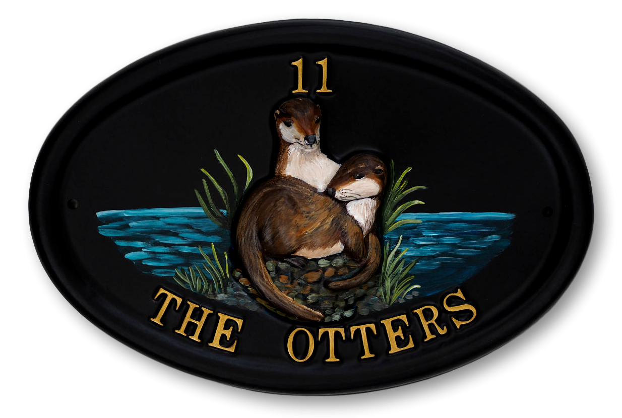 Otters house sign