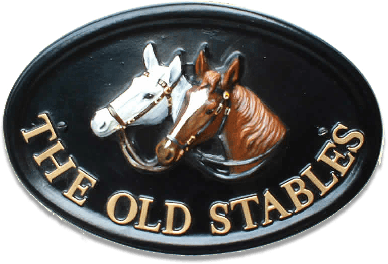 Horses Heads house sign