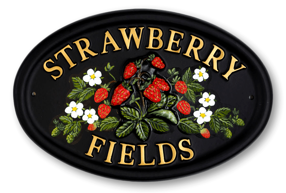 Strawberries house sign