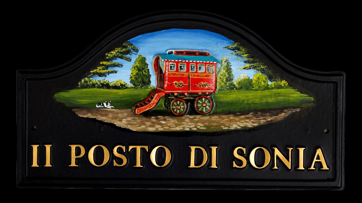 Gypsy Caravan house sign