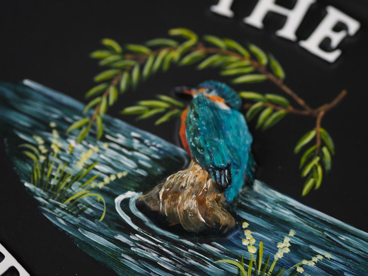 Kingfisher Close Up house sign