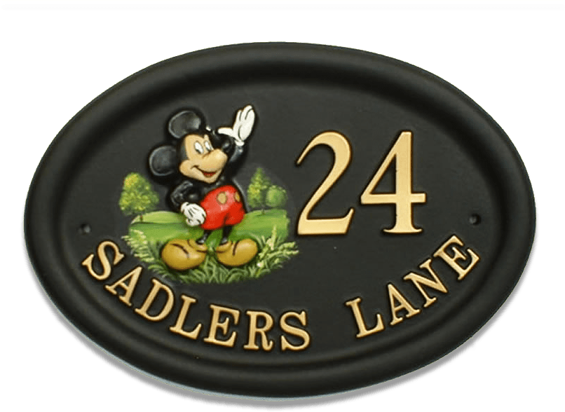 Mickey Mouse house sign