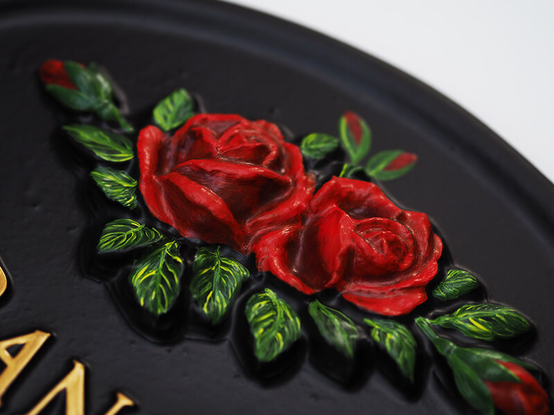 Roses Close Up house sign