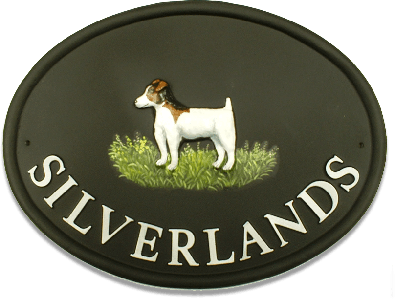 Jack Russell Full Large house sign